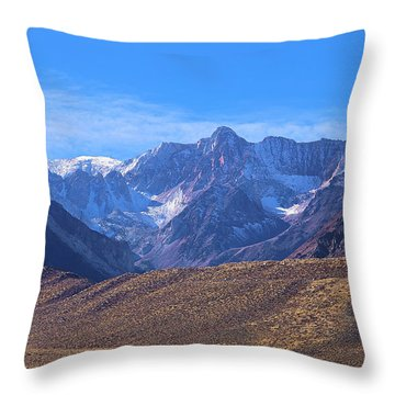 Mcgee Mountain Sierra Nevada Throw Pillow