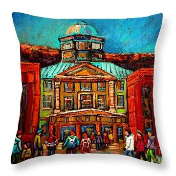 Mcgill Gates Montreal Throw Pillow by Carole Spandau