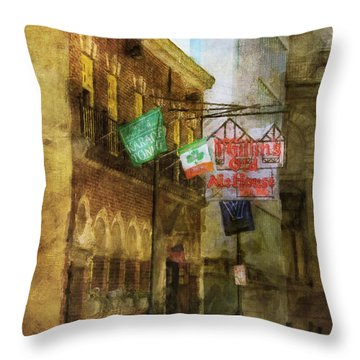 Throw Pillow featuring the photograph Mcgillins Olde Ale House by John Rivera
