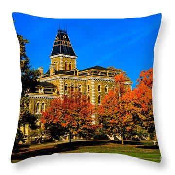 Mcgraw Hall Cornell University Throw Pillow