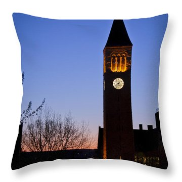 Mcgraw Tower Cornell University Throw Pillow