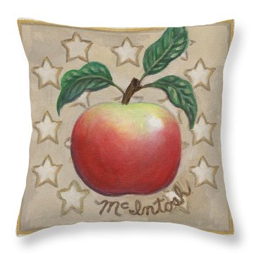 Mcintosh Apple Two Throw Pillow by Linda Mears