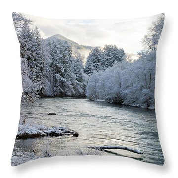 Mckenzie River Throw Pillow by Belinda Greb