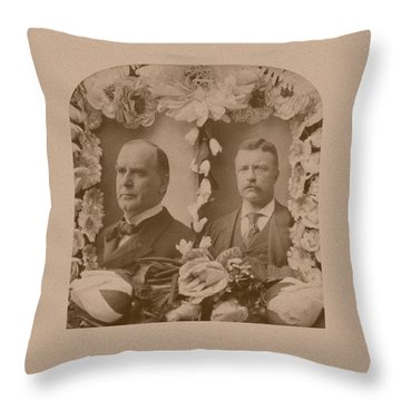 Mckinley And Roosevelt Throw Pillow by War Is Hell Store