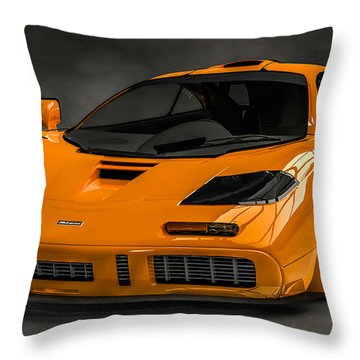 Mclaren F1 Lm Throw Pillow by Louis Ferreira