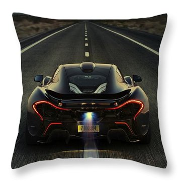 Mclaren P1 2014 Throw Pillow