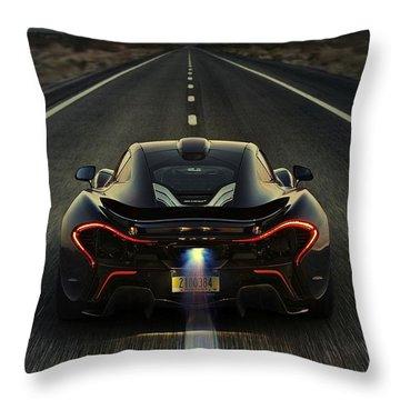 Mclaren P1 2014 Throw Pillow