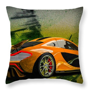 Mclaren P1 Throw Pillow by Louis Ferreira