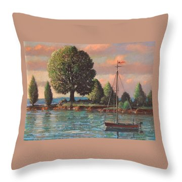 Mcmeekins Point Throw Pillow by Blue Sky