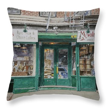 Mcnultys Coffee Throw Pillow by Anthony Butera