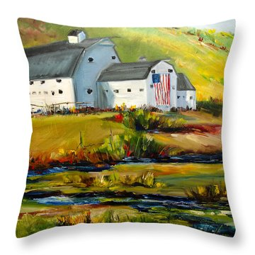 Mcpolin Park City Utah Barn Throw Pillow
