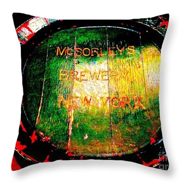 Mcsorleys Brewery Throw Pillow by Ed Weidman