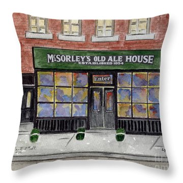 Mcsorley's Old Ale House Throw Pillow