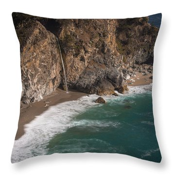 Mcvay Falls... Big Sur  Throw Pillow