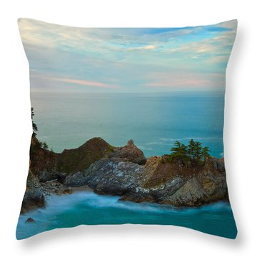 Mcway Falls At Sunrise Throw Pillow