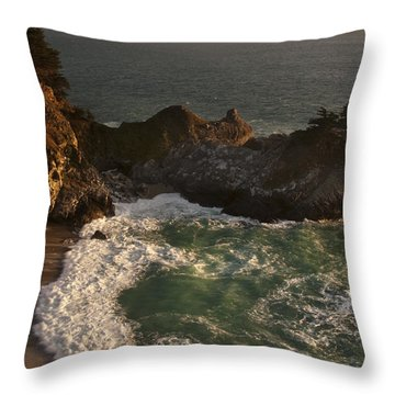 Throw Pillow featuring the photograph Mcway Falls 1 by Lee Kirchhevel