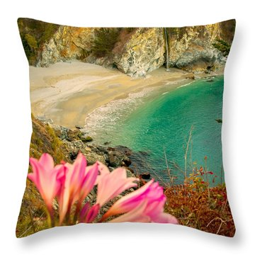 Mcway Falls-3am Adventure Throw Pillow