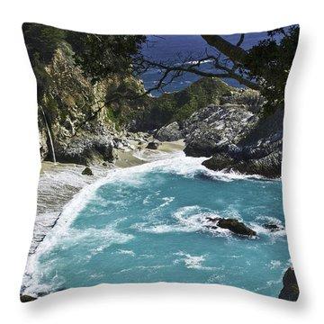 Mcway Falls - Big Sur Throw Pillow