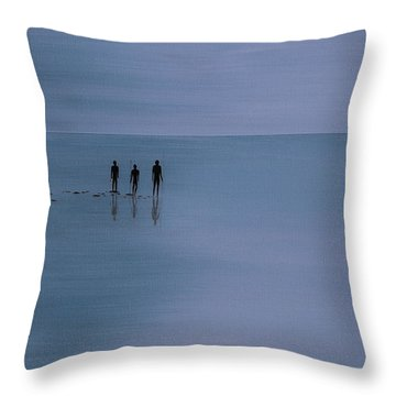 Throw Pillow featuring the painting Mdt 1.2 by Tim Mullaney