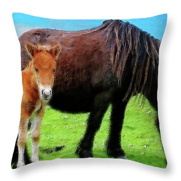 Me And Mum Throw Pillow