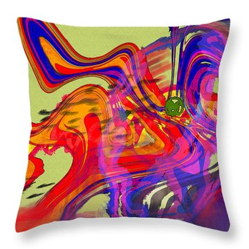 Me And My Bad Attitude Throw Pillow by Mathilde Vhargon