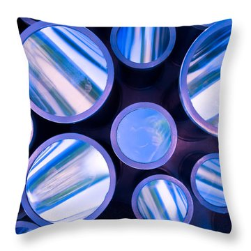 Me And The Kaleidoscope Throw Pillow by Jonathan Nguyen