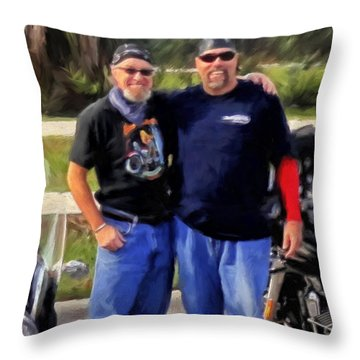 Me N' Bro Throw Pillow