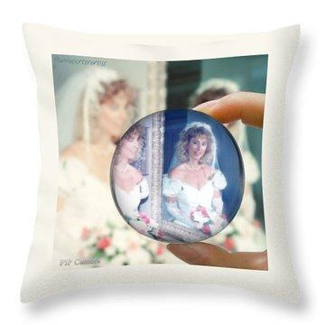 Me Then On My Wedding Day  Throw Pillow