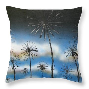 Meadow At Dawn Throw Pillow