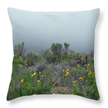 Meadow Fog Throw Pillow