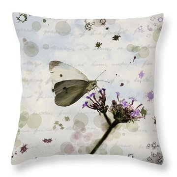 Meadow Garden Throw Pillow