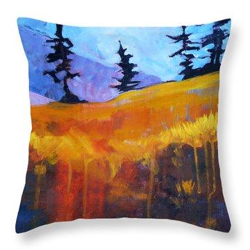 Meadow Mountain Throw Pillow by Nancy Merkle