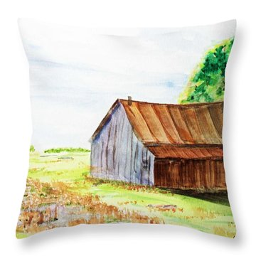 Meadow Shed Throw Pillow