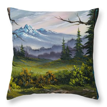 Meadow View Throw Pillow by C Steele
