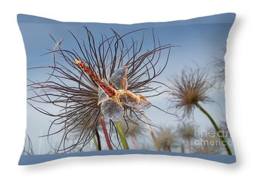 Metal Dragonfly Throw Pillows