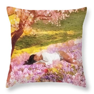 Meadows Of Heaven Throw Pillow by Mo T