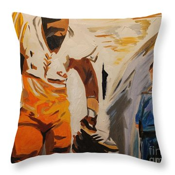 Mean Joe Greene Throw Pillow