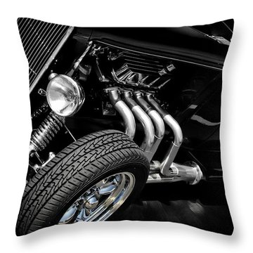 Classic Cars Throw Pillow featuring the photograph Mean Machine Classic by Aaron Berg
