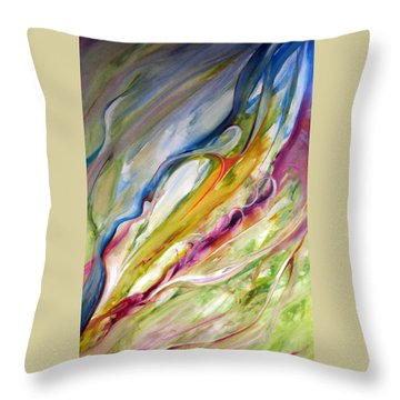 Meander Throw Pillow by Jan VonBokel