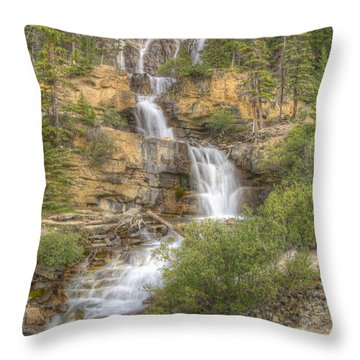 Meandering Waterfall Throw Pillow