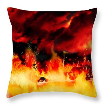 Meanwhile In Tartarus Throw Pillow by Persephone Artworks