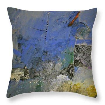 Throw Pillow featuring the painting Meatier Illogical Cold Front by Cliff Spohn