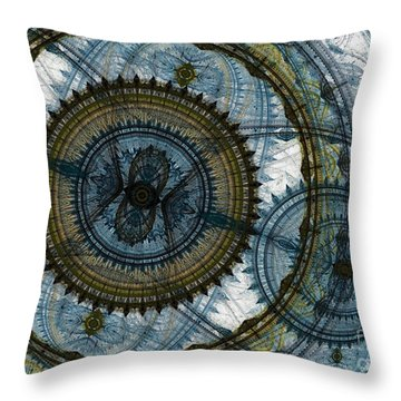 Mechanical Circles Throw Pillow