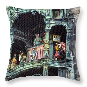 Mechanical Clock In Munich Germany Throw Pillow
