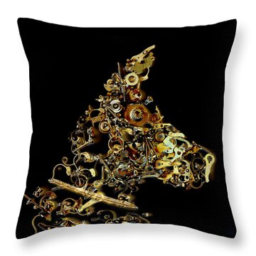 Mechanical - Dog Throw Pillow