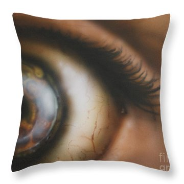 Mechanical Iris Throw Pillow
