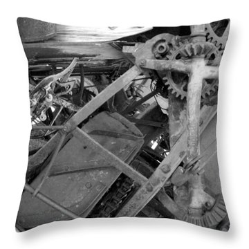 Mechanical Throw Pillow by Tarey Potter