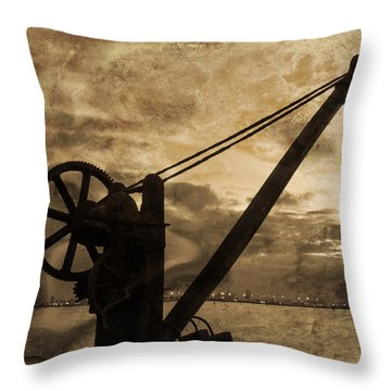 Mechanics Of The Old Days Throw Pillow by Semmick Photo