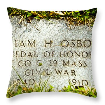 Medal Of Honor   Throw Pillow by Bob and Nadine Johnston