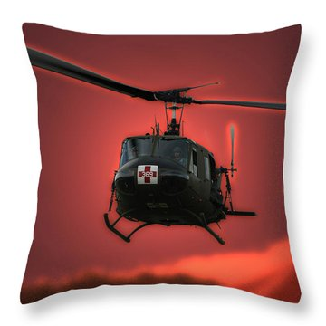 Medevac The Sound Of Hope Throw Pillow by Thomas Woolworth